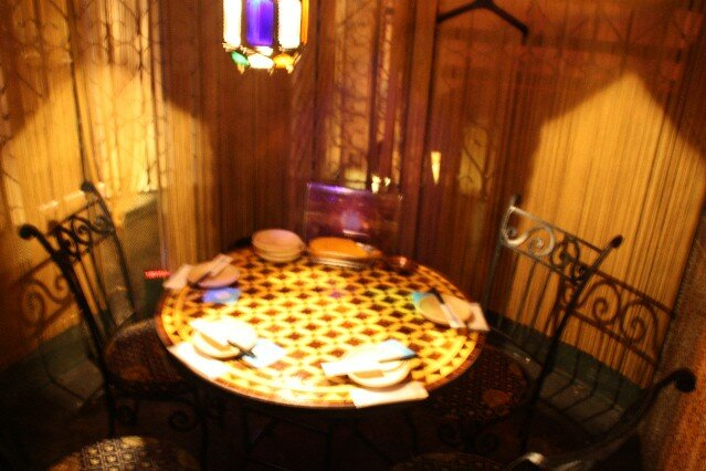 Arabian Rock Restaurant dining tables