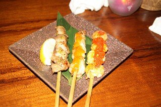Satay sticks at Bali Lax Indonesian Restaurant Tokyo