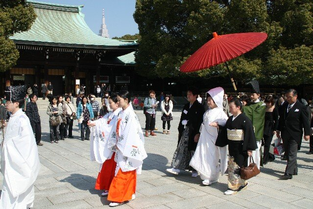 Traditional Japanese wedding at Meiji Jungu Shrine
