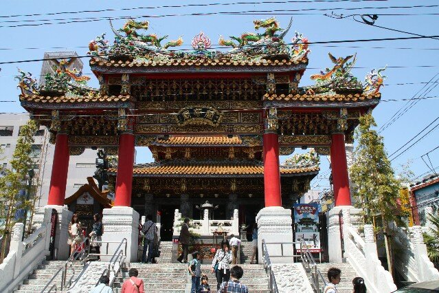 Front gate at Kwan Tai Temple Yokohama Chinatown