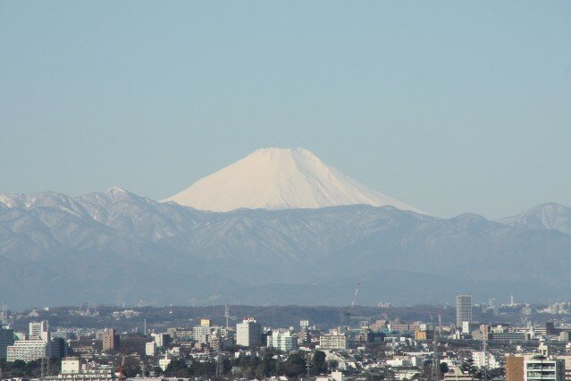 View of Mount Fuji from Tokyo Tower