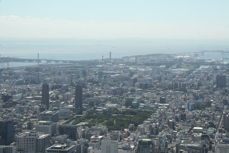 Looking towards Tokyo Bay from Tokyo Skytree
