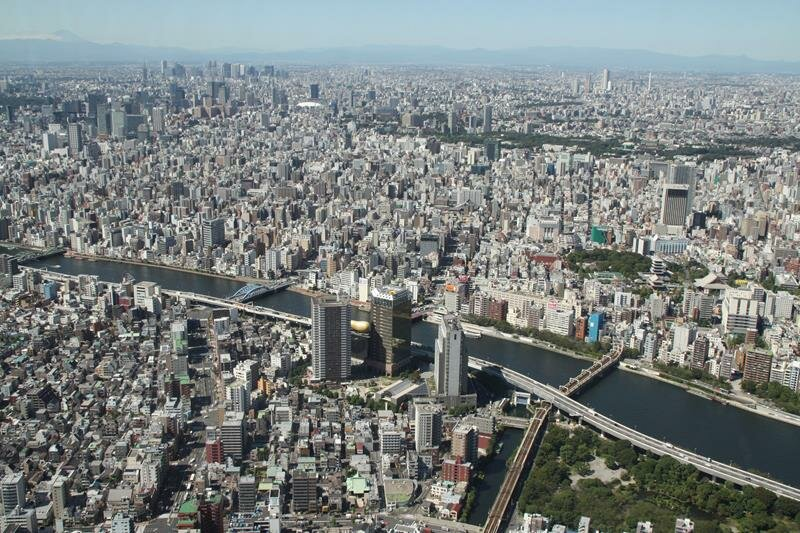 Sumida River from Tokyo Skytree