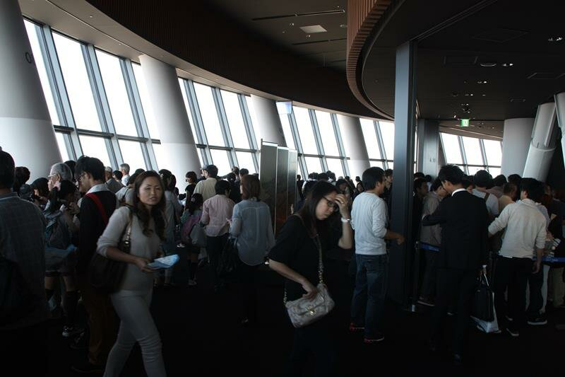 The crowds at Tokyo Skytree