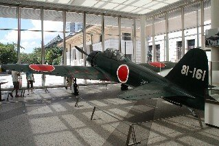 Mitsubishi Type 0 Carrier-base Fighter plane at Yushukan Museum