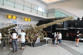 Model 89 15cm Cannon at Yushukan Museum